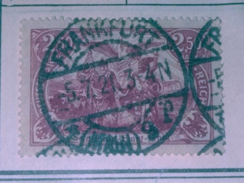 German Empire #114A. Used Xf/vf Frankfurt Cancel