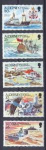 Alderney 60-64 MNH Ships SCV16.50