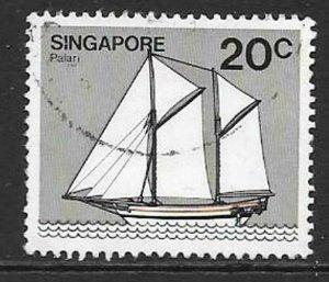 SINGAPORE SG368 1980 20c SHIPS FINE USED