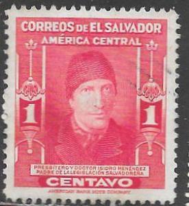 El Salvador 596 Used - Isidro Menéndez