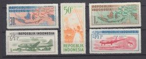J29268, 1949 indonesia set mh #c14-8 airplanes