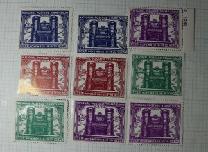 ASDA Natl Postage Stamp Show 1949 NYC Philatelic Souvenir Ad Label