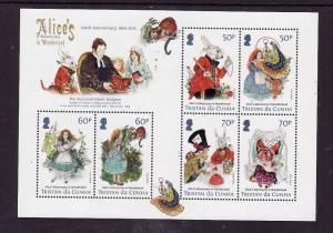 Tristan da Cunha-Sc#1059a-Unused NH sheet-Alice's Adventures in Wonderland-2015-