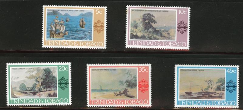 Trinidad Tobago Scott 262-6 MNH** 1975 Art set