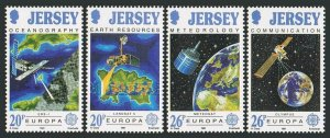 Jersey 559-562,MNH.Michel 539-542. EUROPE CEPT-1991.Satellites and functions.