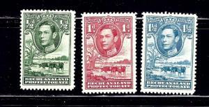 Bechuanaland 124-26 MLH 1938 partial set