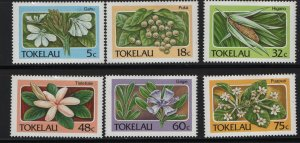 Tokelau  138-143 (6) SET, HINGED, 1987 Flora