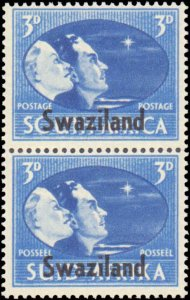 Swaziland #38-40, Complete Set(3), Pairs, 1945, Military Related, Never Hinged