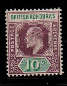 British Honduras Sc 65 1906 10c violet & green Edward VII stamp mint
