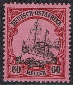 GERMAN EAST AFRICA 1905 YACHT 60H NO WMK