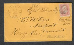 West Winsted Conn DPO 5 Nov 14 1863 CDS Sc#65 Cover