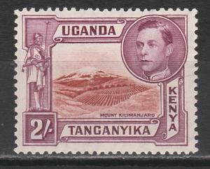 KENYA UGANDA & TANGANYIKA 1938 KGVI MOUNT KILIMANJARO 2/- PERF 14