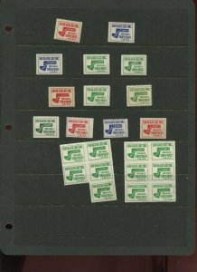 22 VINTAGE PEPIN COUNTY WISCONSIN OUR HEALTH GREETING POSTER STAMPS (L1214)