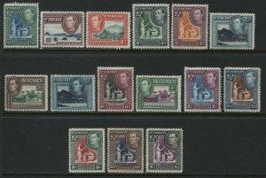 St. Vincent KGVI 1938-47 complete set mint o.g. hinged