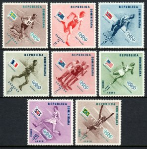 Dominican Republic 479-483,C100-C102,MNH.Olympics,Melbourne.Winners & Flags,1957