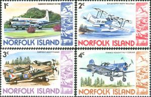 Norfolk Island 1980 SG236-239 Airplanes MNH