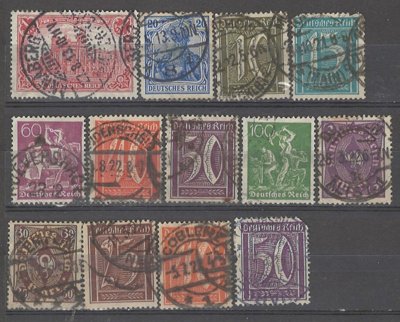 COLLECTION LOT # 5067 GERMANY 13 STAMPS 1902+ CV+$23
