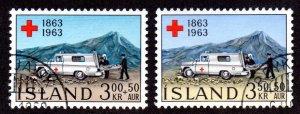 ICELAND B17-18 USED SCV $2.80 BIN $1.15 RED CROSS