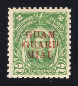 Guam# M7 2 Cents, Green - Guam Guard Mail - Mint - Original Gum - N.H.