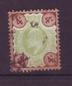 J19299 Jlstamps 1902 great britain used #133 king
