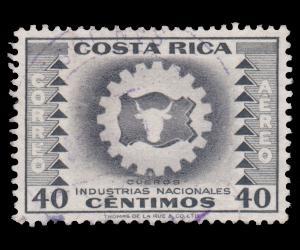 COSTA RICA STAMP 1954. SCOTT # C234. USED.