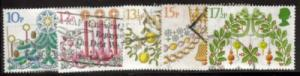 Great Britain Sc 928-2 1980 Christmas stamps used