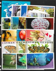 CAYMAN ISLANDS S/SHEET WITH SELECTION OF BOOKLETS STC (2016) £210
