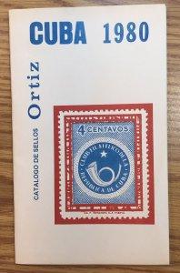CUBA 1980 catalog (booklet) Catalogo de sellos Ortiz