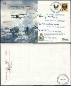 B10c Disbanment of No.57 Squadron Signed by Sqn Commander and Flt Commanders
