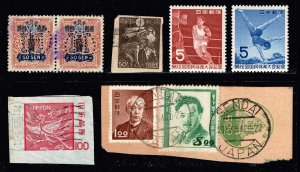 JAPAN STAMP MIXED STAMPS COLLECTION LOT