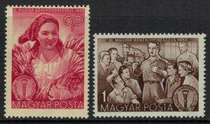 Hungary #1028-9*  CV $2.00