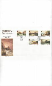 Jersey  527-31 Calms and Storms FDC Jersey Post Office