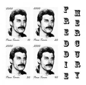 TIMOR SHEET IMPERF SINGERS POP ROCK FREDDIE MERCURY QUEEN