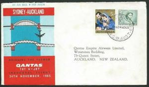 AUSTRALIA 1965 Qantas first flight cover Sydney - Auckland NZ..............58909