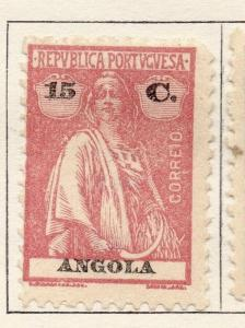 Angola 1922 Early Ceres  Issue Fine Mint Hinged 15c. 139713