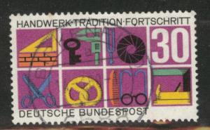 Germany Scott 981 used 1968 stamp
