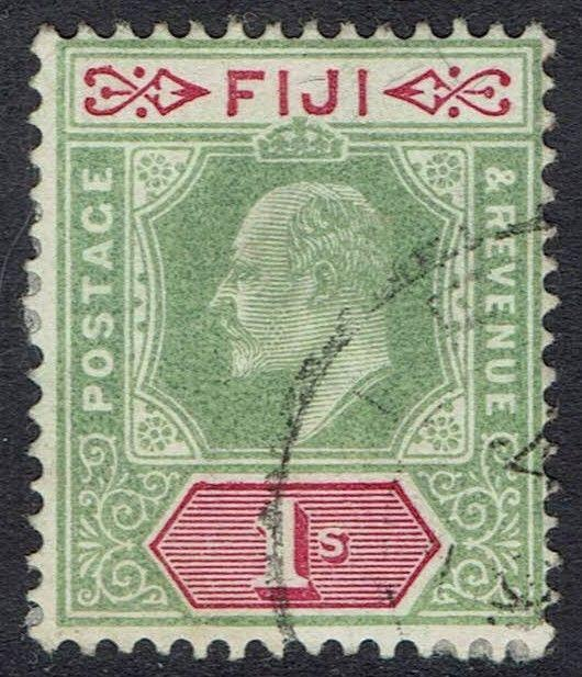 FIJI 1903 KEVII 1/- WMK CROWN CA USED