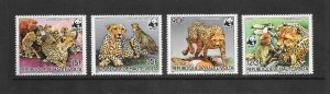ANIMALS - BURKINA FASO #654-7  CHEETAHS   WWF  MNH