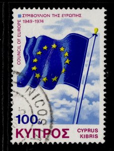CYPRUS QEII SG442, 1975 100m council of europe, FINE USED.