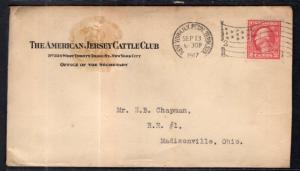 US The American Jersey Cattle Club,New York,NY 1917 Cover