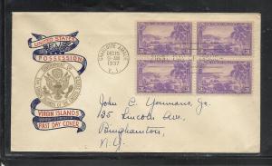 US #802-36 Virgin Islands Plimpton cachet addressed