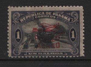 PANAMA  C6  MINT HINGED   RED OVERPRINT 1930