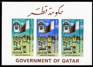 Qatar Stamps # 60a Very scarce S/S Boy Scouts Imperf