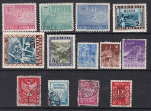 INDONESIA  + VIENNA issues^^^^hinged & used  collection HCV@ xdccc814indo
