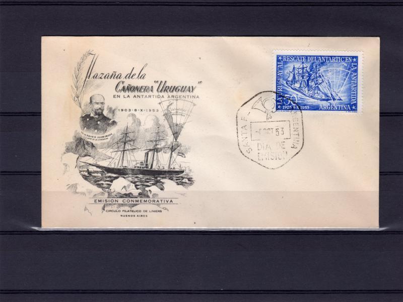 Argentina 1953 Sc#620 Rescue of the Antarctic Ship Uruguay (1) F.D.C.