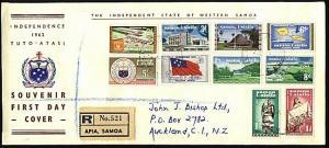 SAMOA 1962 definitive set complete on reg FDC..............................24345