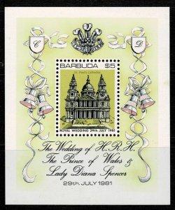 Barbuda 1981 Royal Wedding MNH M/s