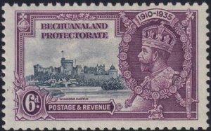 Bechuanaland 1935 SC 1120Var / SG 114a Extra Flagstaff MLH