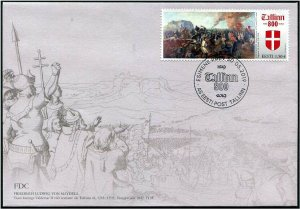 HERRICKSTAMP NEW ISSUES ESTONIA Sc.# 899 Tallin 800 Painting FDC
