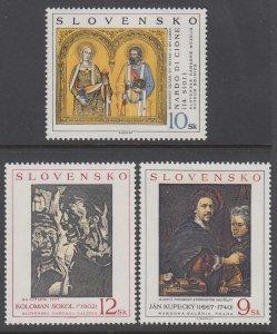 Slovakia 284-286 Paintings MNH VF